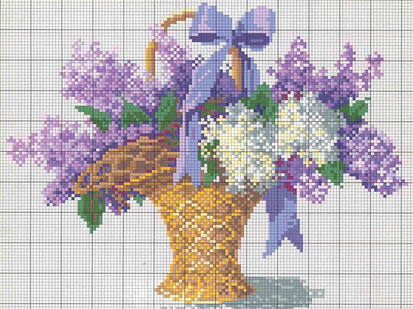 Lilac Horizons: 25 Floral Embroidery Patterns | Livemaster - handmade