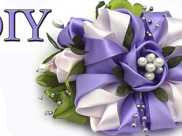 Создаём цветы ручной работы из лент | Ярмарка Мастеров - ручная работа, handmade