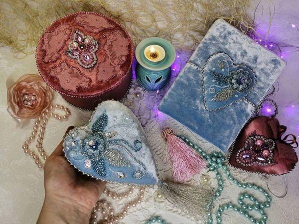 Мастер-класс: бархатное интерьерное сердце   Ярмарка Мастеров - ручная работа, handmade