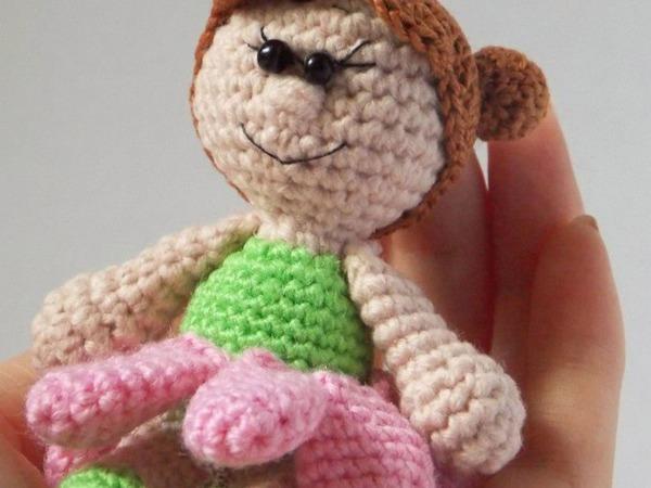 Вяжем девочку-ромашку | Ярмарка Мастеров - ручная работа, handmade