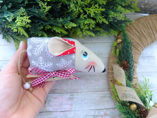 Sewing Christmas Toy Mouse: 2020 Symbol | Livemaster - handmade