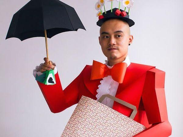 Повелитель бумаги Linus Hui создаёт маски и костюмы из цветного картона   Ярмарка Мастеров - ручная работа, handmade