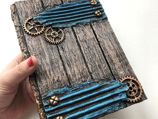 Блокнот из картона/ имитация дерева своими руками | Ярмарка Мастеров - ручная работа, handmade