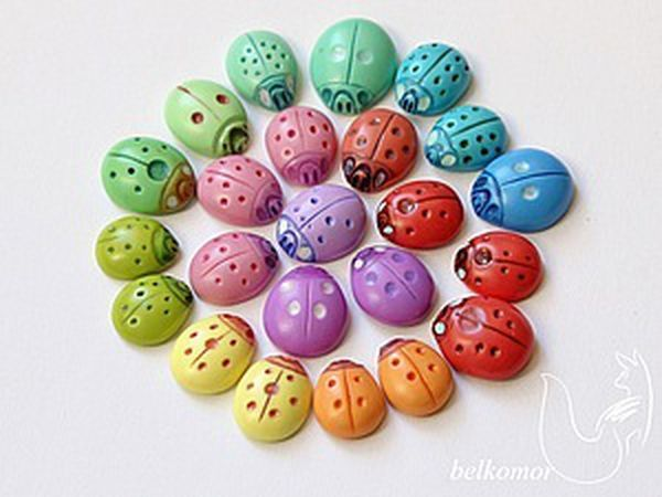 Making a Multipurpose Ladybug out of Polymer Clay | Livemaster - handmade