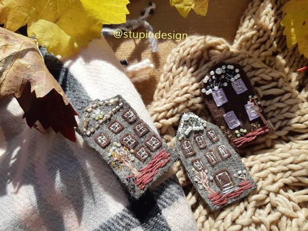 Crafts with Kids: a 'House' Brooch | Livemaster - handmade