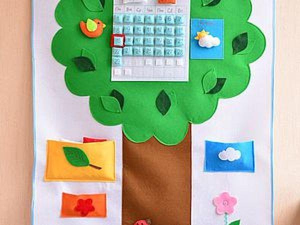 Создаем развивающее панно-календарь из фетра | Ярмарка Мастеров - ручная работа, handmade