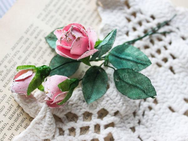 Создаем розы из ткани для скрапбукинга | Ярмарка Мастеров - ручная работа, handmade