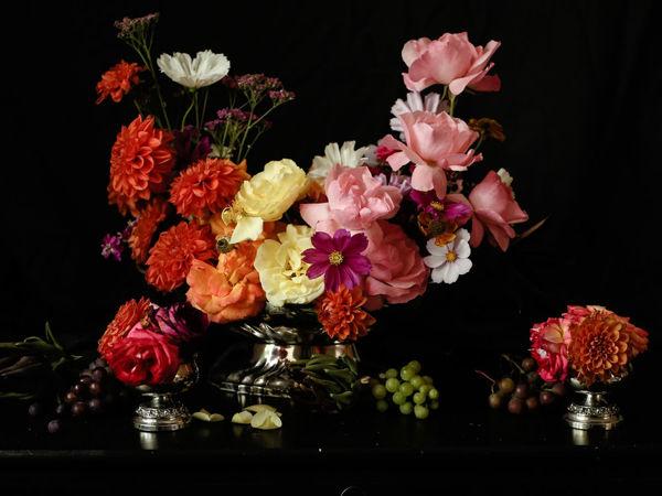 Винтажные посеребренные роузболы для срезанных цветов Lanthe Англия | Ярмарка Мастеров - ручная работа, handmade