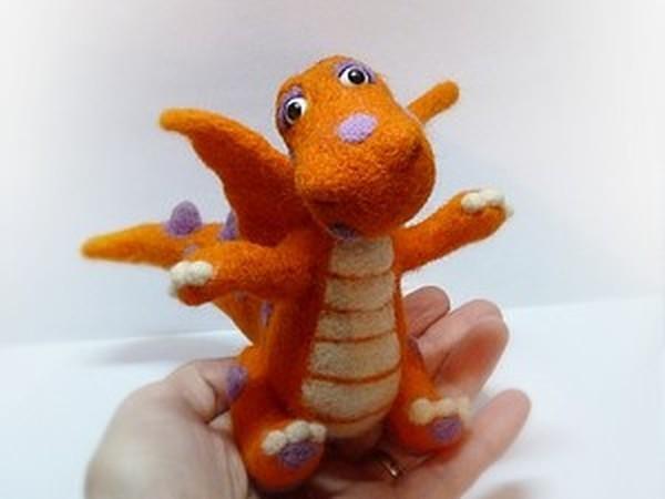 Валяем симпатичного дракончика   Ярмарка Мастеров - ручная работа, handmade
