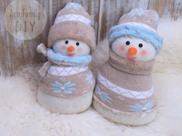 How To Make Snowmen Of Socks. Crafts For New Year | Livemaster - handmade