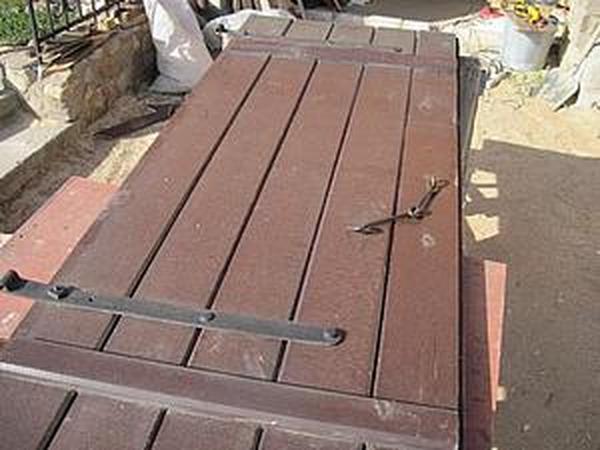 Реставрация больших деревянных ставень. Часть 1: Подготовительные работы и шлифовка одной стороны | Ярмарка Мастеров - ручная работа, handmade