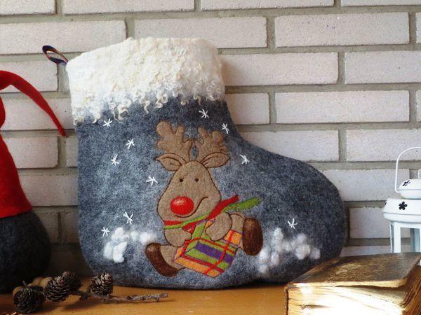 Валяем мешок-валенок для подарков | Ярмарка Мастеров - ручная работа, handmade