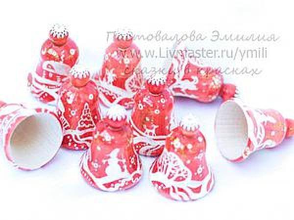 Мастер-класс: роспись рождественского колокольчика | Ярмарка Мастеров - ручная работа, handmade