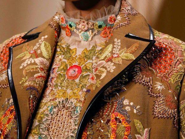 Два наряда с вышивкой растительных орнаментов от Valentino Haute Couture Spring 2015 | Ярмарка Мастеров - ручная работа, handmade