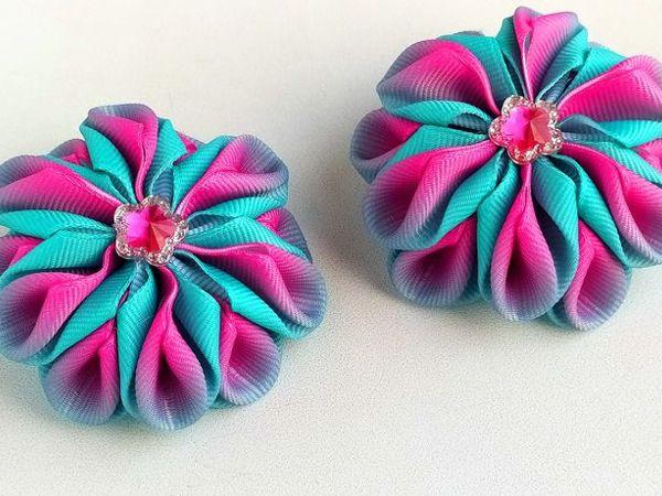 Делаем красивые банты-зефирки из лент   Ярмарка Мастеров - ручная работа, handmade