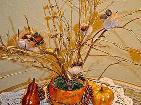 Делаем вместе с ребенком «Осеннее дерево»   Ярмарка Мастеров - ручная работа, handmade