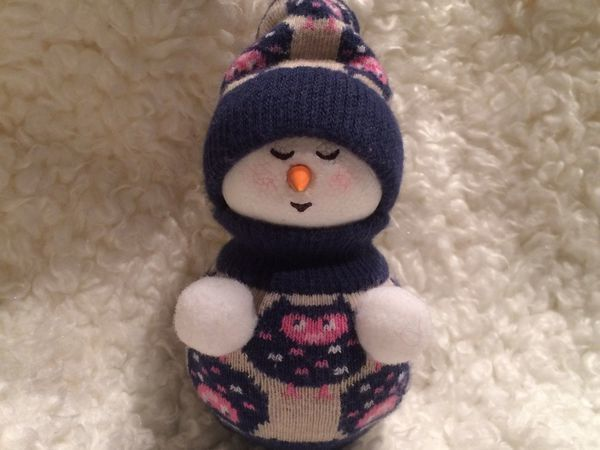 Изготовление новогодней игрушки «Снеговик» за час   Ярмарка Мастеров - ручная работа, handmade