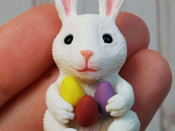 Лепим пасхального кролика из пластики. Видеоурок | Ярмарка Мастеров - ручная работа, handmade