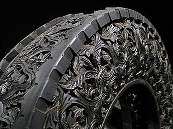Резьба по автомобильным шинам от художника Wim Delvoye | Ярмарка Мастеров - ручная работа, handmade