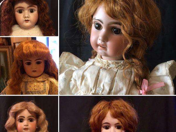 Изготовление паричка для антикварной и винтажной куклы | Ярмарка Мастеров - ручная работа, handmade