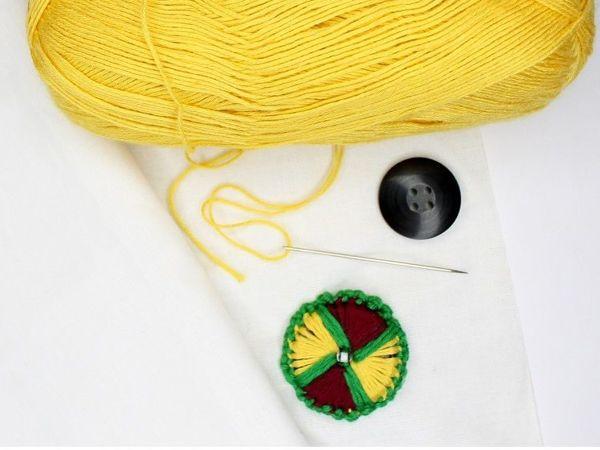 Как сделать пуговицу из пряжи своими руками | Ярмарка Мастеров - ручная работа, handmade