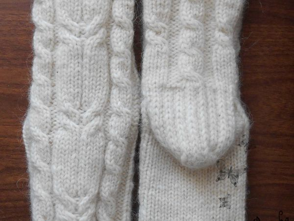 Мастер-класс: вяжем спицами носочки с косами | Ярмарка Мастеров - ручная работа, handmade