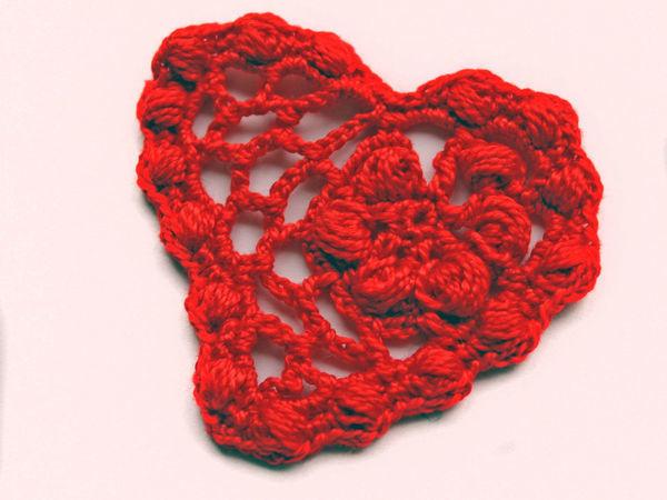 Видеоурок по вязанию крючком: «Сердечко» | Ярмарка Мастеров - ручная работа, handmade