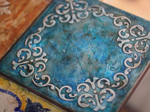 Серия «Настенные техники» Испанские изразцы — «Имитация керамической плитки» по будням | Ярмарка Мастеров - ручная работа, handmade