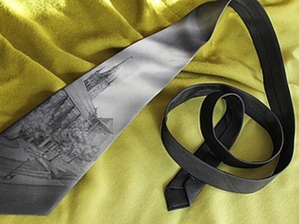 Бесконтурная роспись шелкового галстука | Ярмарка Мастеров - ручная работа, handmade