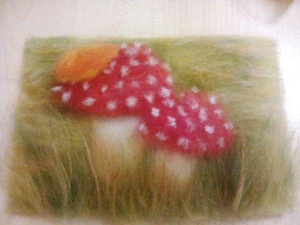 Мастер-класс по шерстяной акварели «Осенние грибочки» для детей и их родителей | Ярмарка Мастеров - ручная работа, handmade