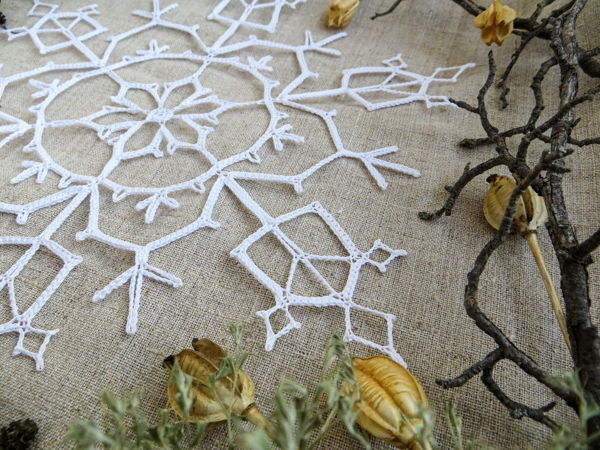 Снежинки размера XXL! | Ярмарка Мастеров - ручная работа, handmade