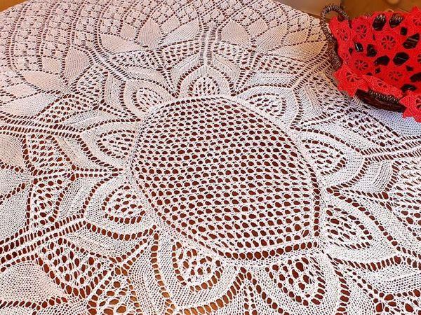 Вяжем скатерть спицами | Ярмарка Мастеров - ручная работа, handmade