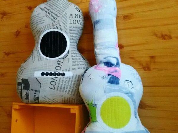 Шьем подушку «Гитара»   Ярмарка Мастеров - ручная работа, handmade