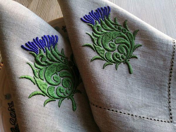Весення распродажа льняных салфеток с вышивкой! | Ярмарка Мастеров - ручная работа, handmade