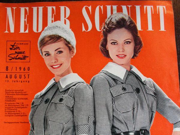 Neuer Schnitt — старый немецкий журнал мод 8/1960   Ярмарка Мастеров - ручная работа, handmade