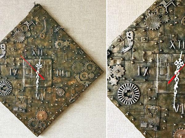 Делаем крутые настенные часы в стиле Стимпанк: видео мастер-класс   Ярмарка Мастеров - ручная работа, handmade