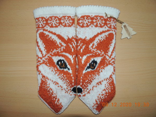 Варежки Лиса | Ярмарка Мастеров - ручная работа, handmade