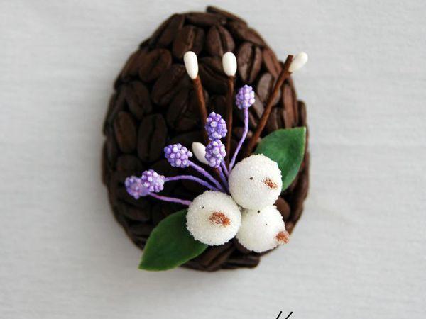 Как сделать ароматный кофейный магнит к Пасхе | Ярмарка Мастеров - ручная работа, handmade