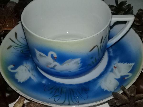 .Барановка.  Чайная пара Чашка с блюдцем   Ярмарка Мастеров - ручная работа, handmade