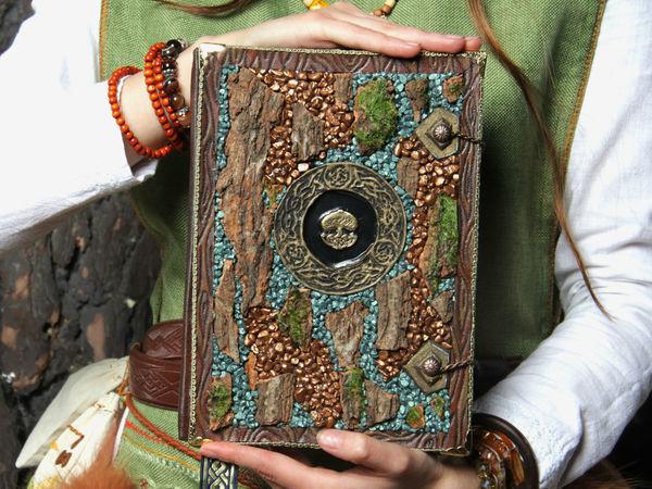 Процесс создания обложки для магической книги Лесной Ведьмы   Ярмарка Мастеров - ручная работа, handmade