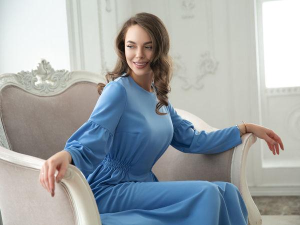 Нежный Образ в Голубом Платье | Ярмарка Мастеров - ручная работа, handmade