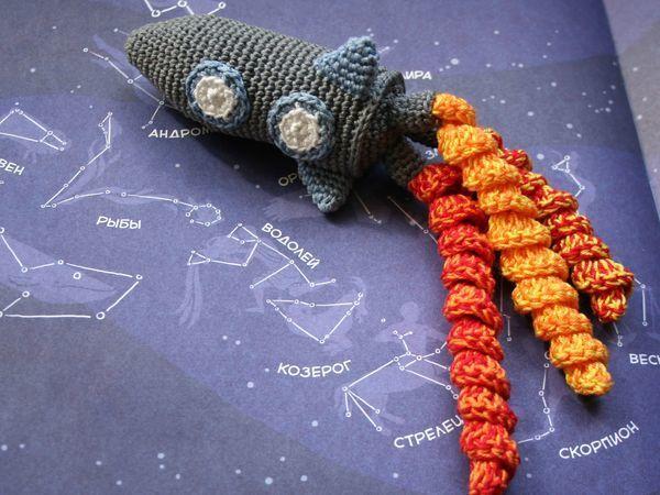 Мастер-класс по вязанию крючком игрушки-комфортера «Ракета» | Ярмарка Мастеров - ручная работа, handmade