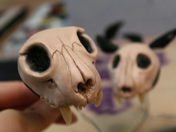Лепим череп из полимерной глины   Ярмарка Мастеров - ручная работа, handmade