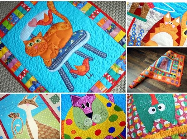 Пэчворк крупным планом! Лоскутное шитье с котом — лоскутные покрывала, лоскутные пледы, лоскутные одеяла, лоскутные подушки для взрослых и для детей!! | Ярмарка Мастеров - ручная работа, handmade