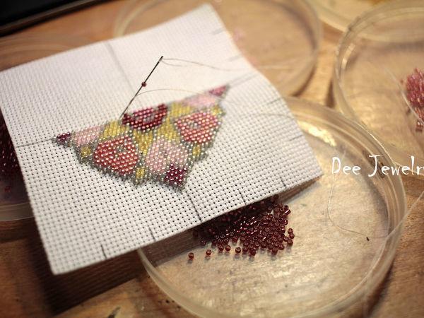 Вышивка бисером по канве: разбираем сложные моменты | Ярмарка Мастеров - ручная работа, handmade