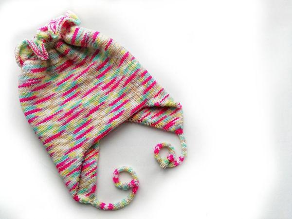 Вяжем детскую шапку под хвостик   Ярмарка Мастеров - ручная работа, handmade