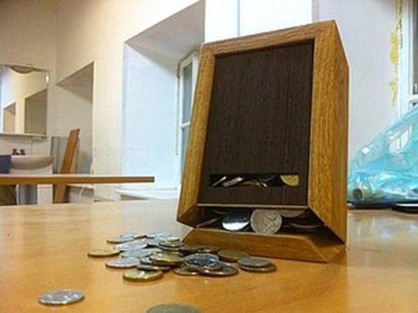 Копилка из дерева с магнитной крышкой   Ярмарка Мастеров - ручная работа, handmade