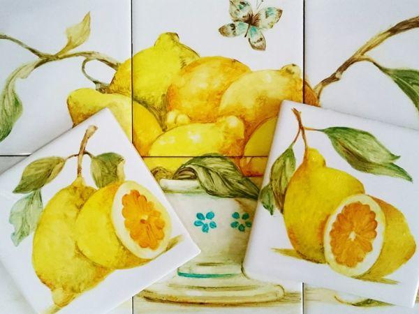 Солнечные лимоны в декоре кухни | Ярмарка Мастеров - ручная работа, handmade
