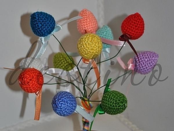 Вязаное Пасхальное деревце | Ярмарка Мастеров - ручная работа, handmade