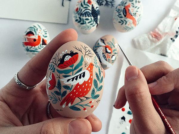 Пасхальные яйца: фольклорные мотивы от художницы из Узбекистана Динары Мирталиповой   Ярмарка Мастеров - ручная работа, handmade